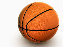Basketball. On white background 3d with shadow Stock Photos
