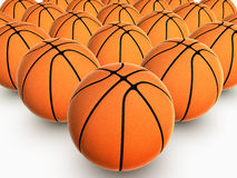 Basketball. Clone basketball background. Realistic 3d rendered illustration Royalty Free Stock Photo