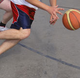 Basketball action Royalty Free Stock Photos