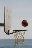 Basketball action shot Royalty Free Stock Photos