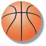 Basketball against white Stock Image