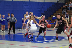Basketball-Aktion Lizenzfreie Stockbilder