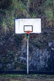 The basketball alone royalty free stock photography