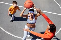 Basketball amateurs Royalty Free Stock Photos