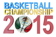 Basketball American Championship 2015 Royalty Free Stock Images