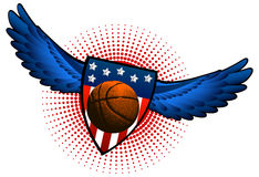 Basketball american wings Stock Photography