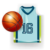 Basketball apparel and ball Stock Photo