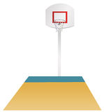 Basketball area Royalty Free Stock Image