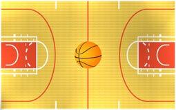Basketball arena. Illustration of a basketball arena royalty free illustration