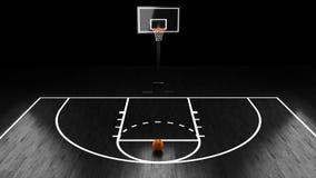 Basketball Arena with basketball ball.  stock illustration