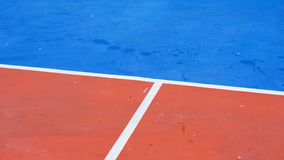 Basketball arena_2. Basketball arena court Field sports flooring made of rubber Stock Images