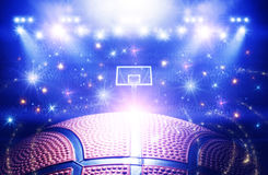 Basketball arena 3d Stock Images