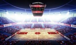 Basketball arena stock photography