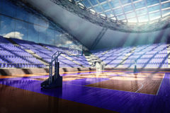 Basketball arena render Royalty Free Stock Photos