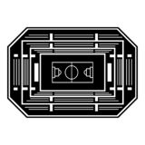 Basketball arena top view icon, simple style. Basketball arena top view icon. Simple illustration of basketball arena top view vector icon for web design vector illustration