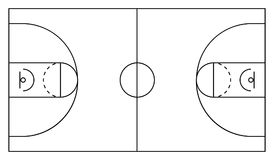 Basketball arena. White and black background. Vector illustration eps 10.  royalty free illustration