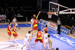 Basketball Argentina and Spain Royalty Free Stock Photo