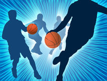 Basketball Art 3. Image background, the concept of basketball players Royalty Free Stock Photo