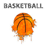 Basketball as stains Royalty Free Stock Photos