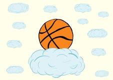 Basketball auf einer Wolke Lizenzfreies Stockfoto