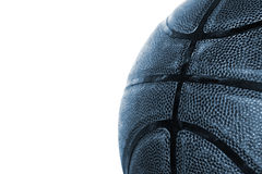 Basketball auf Weiß Stockfoto