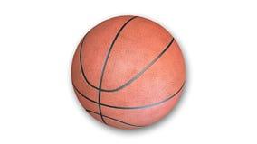 Basketball auf weißem Hintergrund Lizenzfreie Stockfotos