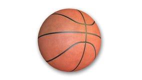 Basketball auf weißem Hintergrund Stockbild