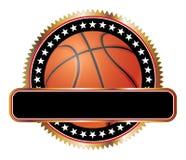 Basketball-Auslegungs-Emblem-Sterne stock abbildung