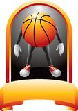 Basketball award with a cartoon figure Royalty Free Stock Photo