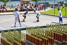 Basketball awards Stock Image