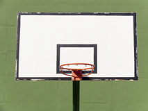 Basketball backboard. Outdoor basketball hoop and backboard, front view Royalty Free Stock Image