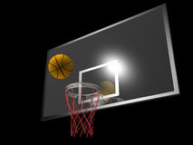 Basketball and backboard Royalty Free Stock Photo