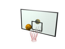 Basketball and backboard Stock Photo