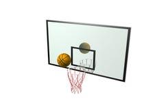 Basketball and backboard.  Stock Photo