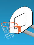 Basketball backboard. Colorful vector illustration Royalty Free Stock Images
