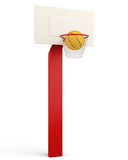 Basketball backboard and ball isolated on white background.. 3d render image Stock Image