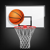 Basketball backboard and ball Royalty Free Stock Image