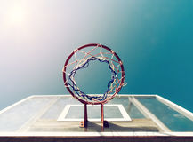 Basketball Below Net Royalty Free Stock Images