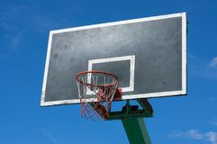 Basketball backboard with blue sky. Out door Basketball backboard with blue sky Stock Images
