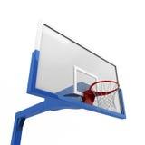 Basketball backboard close-up. Isolated on white background Stock Image
