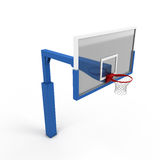 Basketball backboard close-up. On a white. 3d render image Royalty Free Stock Photo