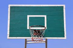 Basketball backboard Basketball hoop. Background Royalty Free Stock Images