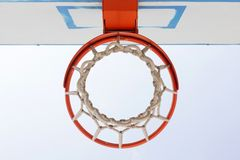 Basketball backboard, hoop and net Royalty Free Stock Photography