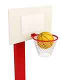 Basketball backboard isolated on white background.. 3d render image Royalty Free Stock Photography