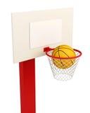 Basketball backboard isolated on white background.  Royalty Free Stock Photography