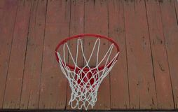 Basketball backboard with net royalty free stock photo