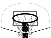 Basketball backboard silhouette Stock Photos