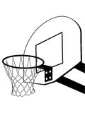 Basketball backboard silhouette Royalty Free Stock Image