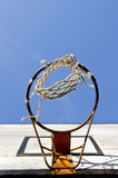 Basketball backboard and sky Stock Image