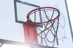 Basketball backboard Stock Photo